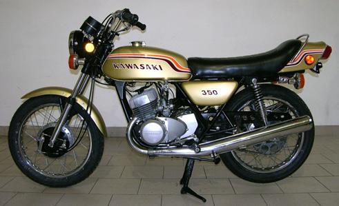 moto kawasaki 350